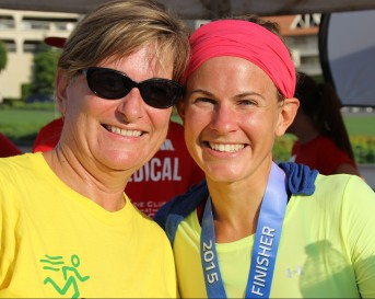 My Mom and I at the IMCDA finish.