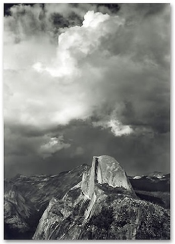 Ansel Adams Half Dome from Glacier Point