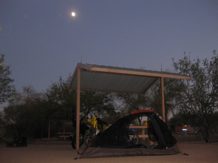 Our campsite at Desert Tortoise Campground.